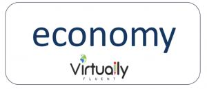 "Flashcard saying ""economy"""