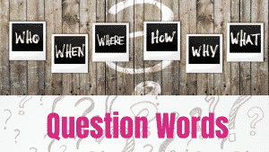 Question Words Course Image