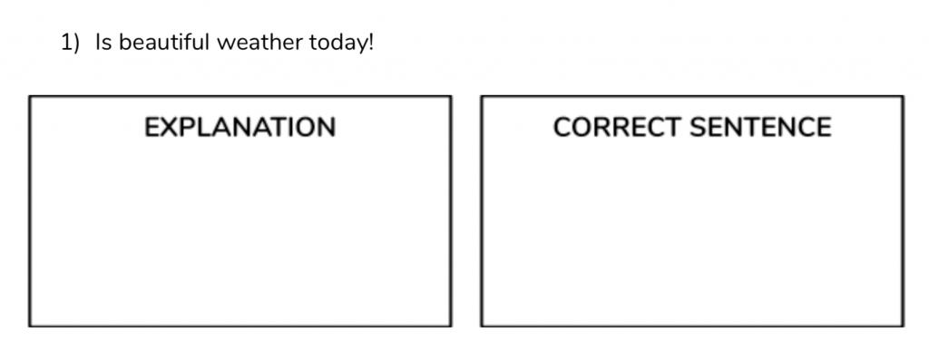 Subjects Error Correction